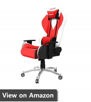 Rekart Gaming Chair (RGC-3) PU + PVC Black Frame, 350mm Metal Base, with Lumbar Support, Angle 90-175 Degree Office and Gaming Chair